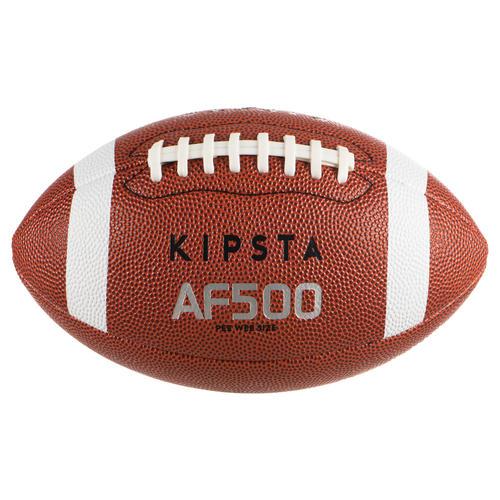 Ballon de football américain AF500 en taille pee wee marron