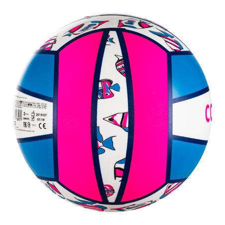 Balón de vóley playa BV100 Fun rosa fluo