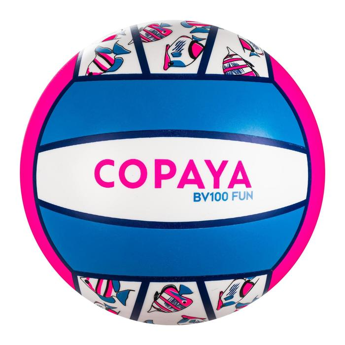 Ballon de beach-volley BV100 Fun rose fluo