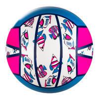 Ballon de beach-volley BV100 Fun rose fluo