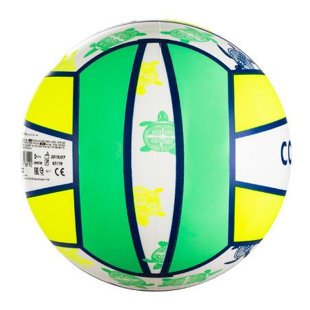 Balón de vóley de playa BV100 Fun amarillo fluo
