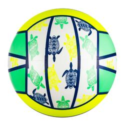 Ballon de beach-volley BV100 Fun jaune fluo