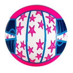 Bal voor beachvolley BV100 Fun paars en roze