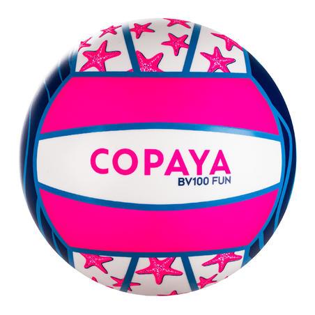 Ballon de beach volley BV100 Fun violet et rose