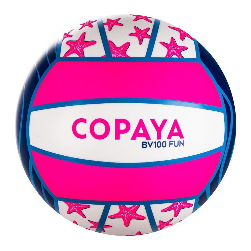 Bal voor beachvolley BV100 Fun paars/roze