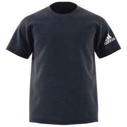 T-Shirt Fitness Cardio Herren blaumeliert
