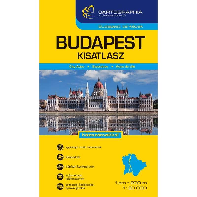 Térképek Túrázás - Budapest kisatlasz CARTOGRAPHIA - Túra felszerelés