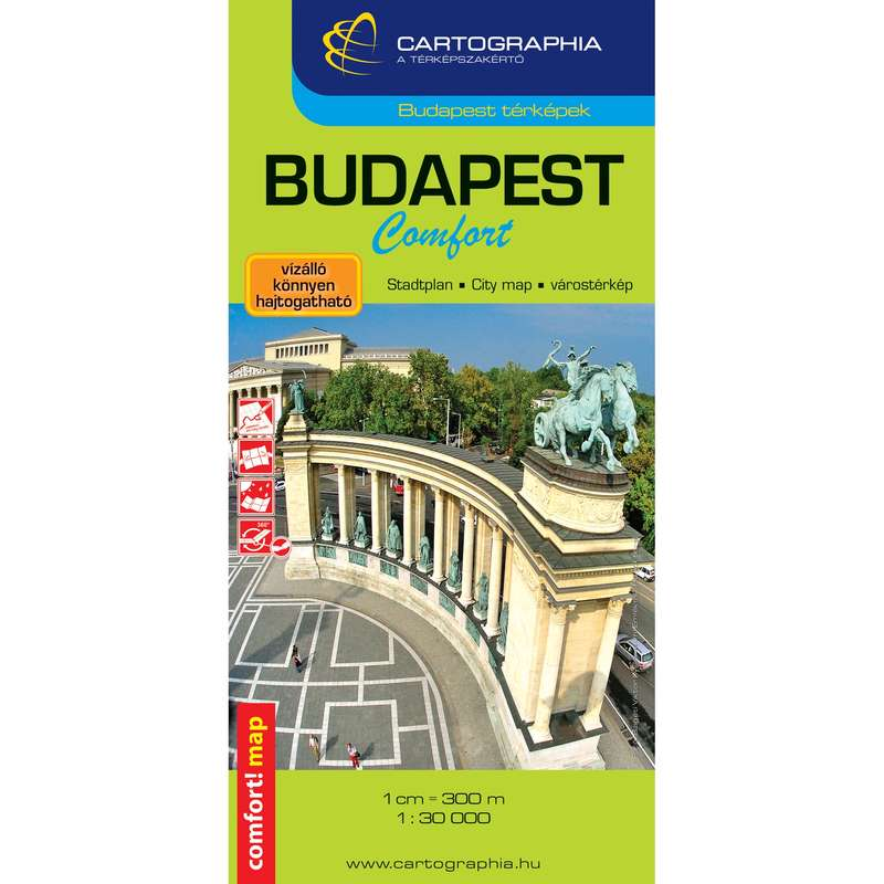 térképek Túrázás - Budapest comfort térkép CARTOGRAPHIA - Túra felszerelés