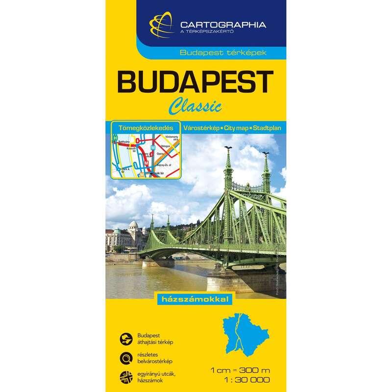 Térképek Túrázás - Budapest Classic térkép CARTOGRAPHIA - Túra felszerelés