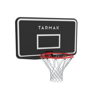 Canasta de baloncesto SB100 para fijar a la pared, júnior y adulto negro rojo