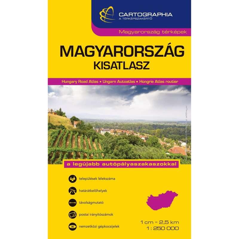 Térképek Túrázás - Magyarország kisatlasz CARTOGRAPHIA - Túra felszerelés