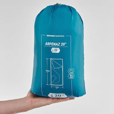Sleeping bag con Cierre - Montaña y Camping Arpenaz - Unisex - Verde 20°C