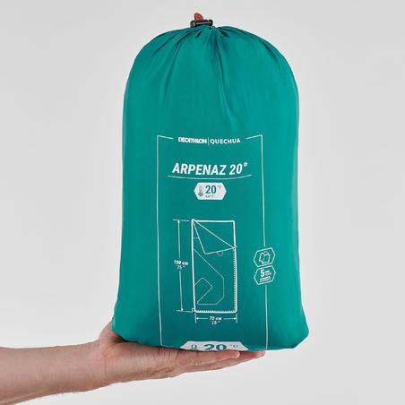 SLEEPING BAG PARA CAMPING - ARPENAZ 20° VERDE