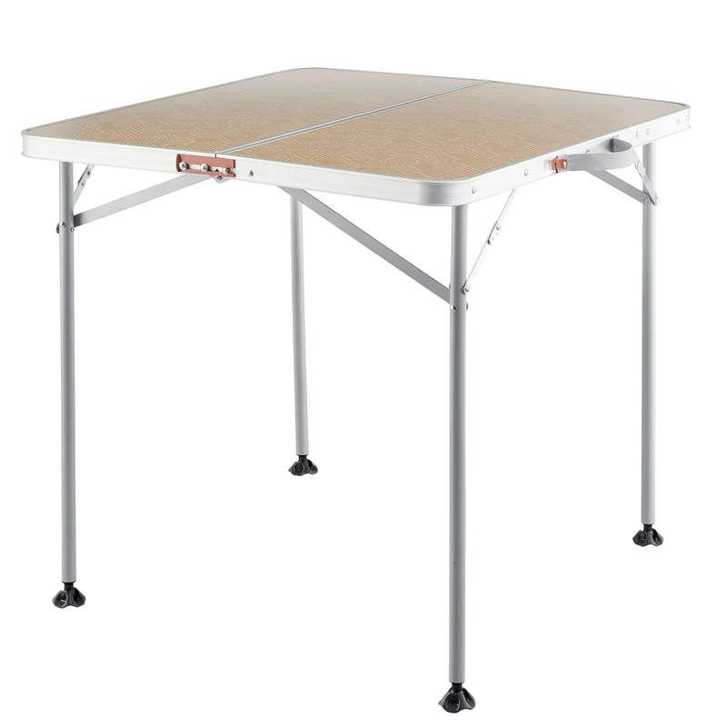 QUECHUA Kempingový Stôl Pre 4 Osoby