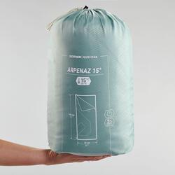 Kampeerslaapzak Arpenaz 15°C groen