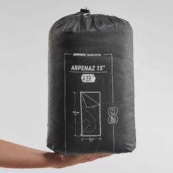 Slaapzak Arpenaz - 15°C - zwart