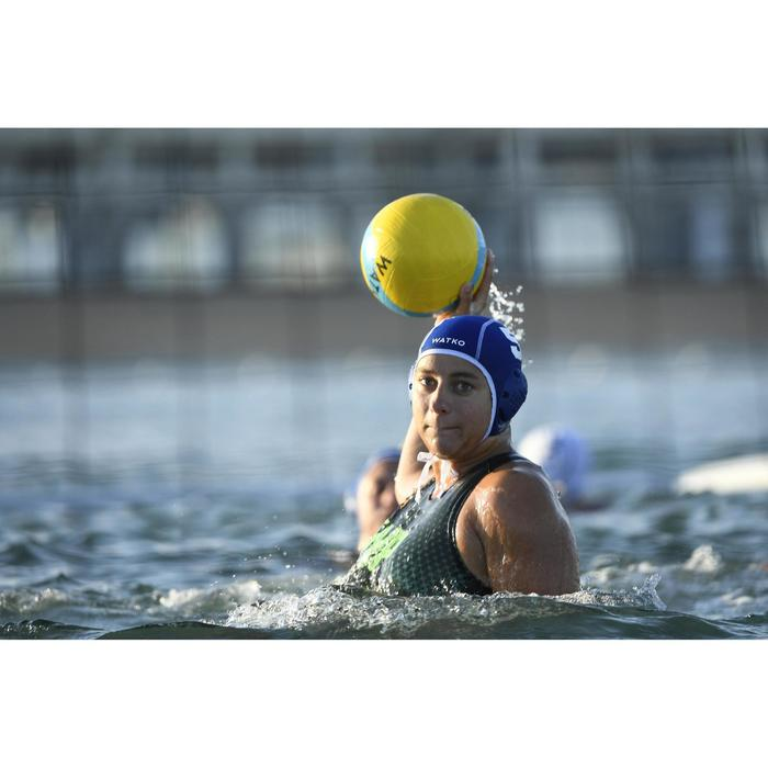 BALLON WATER POLO WP500 TAILLE 4 OFFICIEL JAUNE BLEU