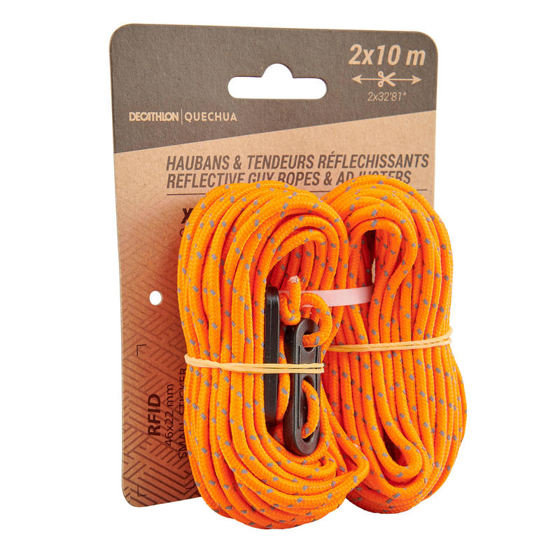 2 guy ropes and 4 reflective guy lines for tents