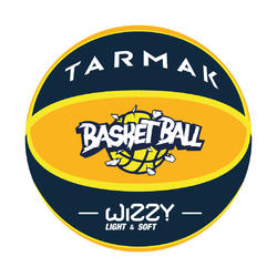Kids' Size 5 Basketball Wizzy - Yellow/Blue