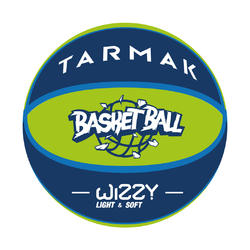 Kids' Size 5 Basketball Wizzy - Blue/Green.