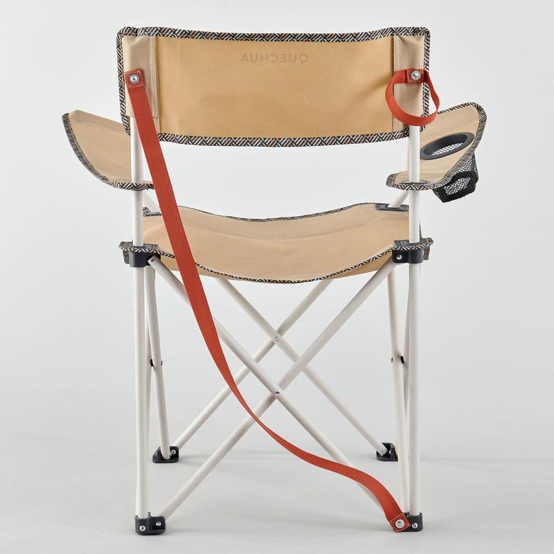 เก้าอี้พับสำหรับการตั้งแคมป์รุ่น BASIC (สีเบจ)