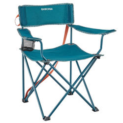 Campingstuhl Basic mit Armlehnen faltbar blau