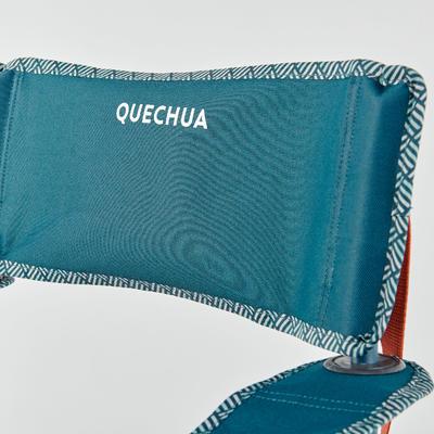 Silla Plegable Camping Quechua Basic Azul Portavasos