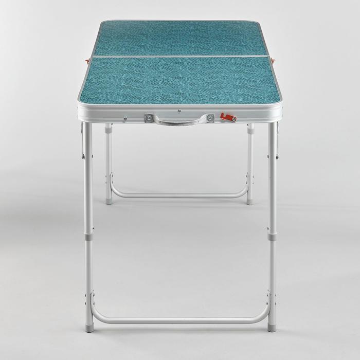 TABLE DE CAMPING PLIANTE - 4 TABOURETS - 4 À 6 PERSONNES