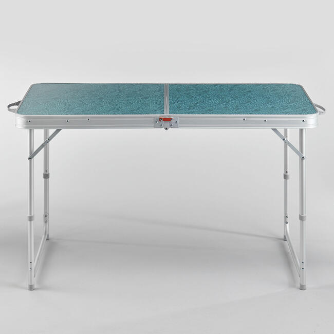 FOLDING CAMPING TABLE - 4 STOOLS - 4 TO 6 PEOPLE