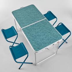 4到6人摺疊式露營桌(附4張凳子)