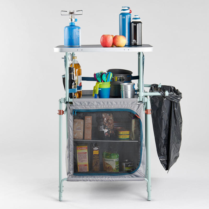 FOLDING AND COMPACT CAMPING CUPBOARD