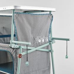 Opvouwbaar en compact opbergmeubel voor de camping
