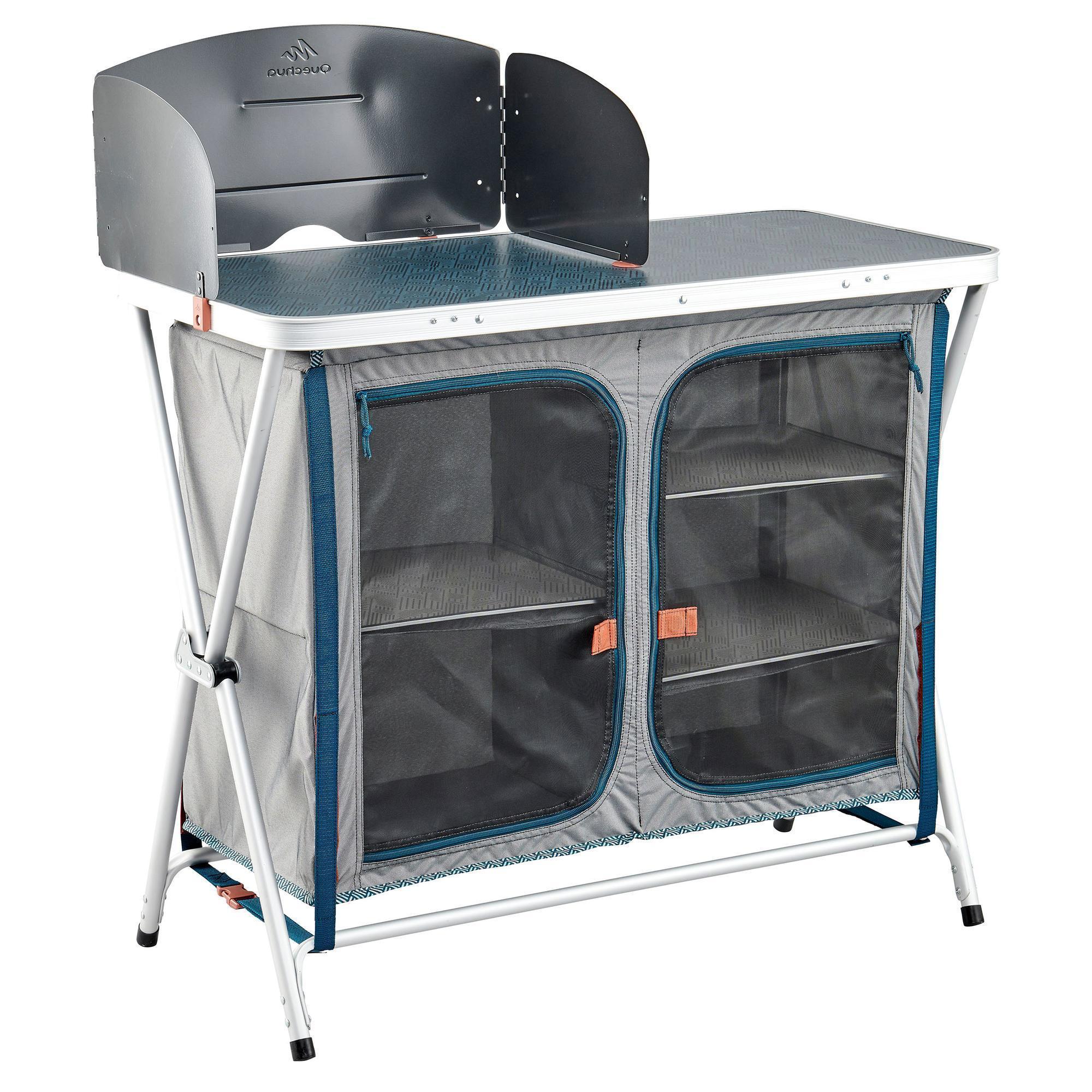 Meuble De Cuisine Decathlon meuble de cuisine pliant et confortable pour le camping