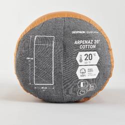 露營用棉質睡袋Arpenaz 20°