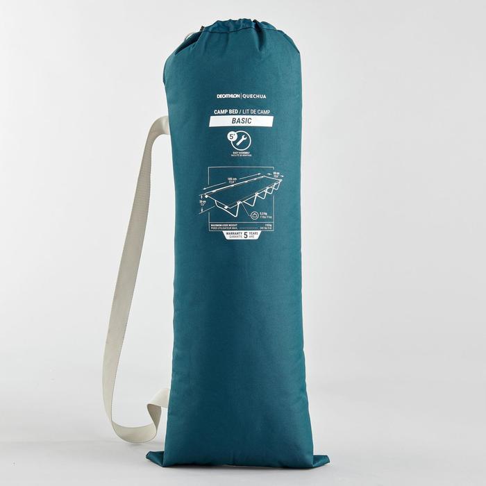 LIT DE CAMP POUR LE CAMPING - CAMP BED BASIC 60 CM - 1 PERSONNE