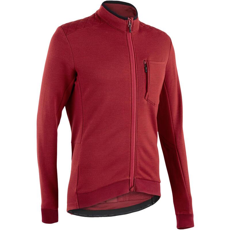 RC900 Warm Merino Long Sleeve Cycling Jersey - Bordeaux