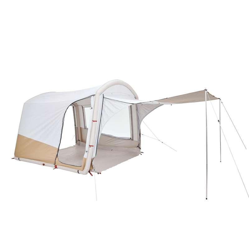 FAMILJETÄLT, BASLÄGER NATURVANDRING Camping - Allrum Base Connect Fresh QUECHUA - Campingtält