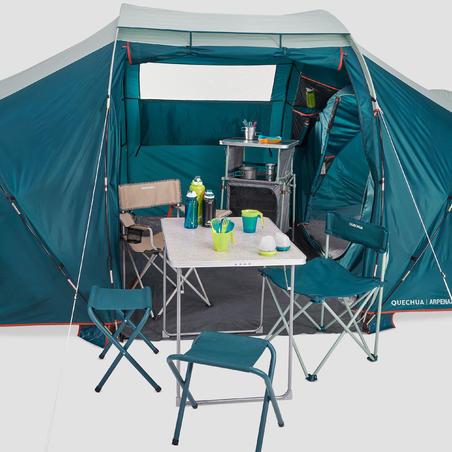 Tenda Keluarga Arpenaz 4.2 Kapasitas 4 Orang - 2 Ruang Tidur