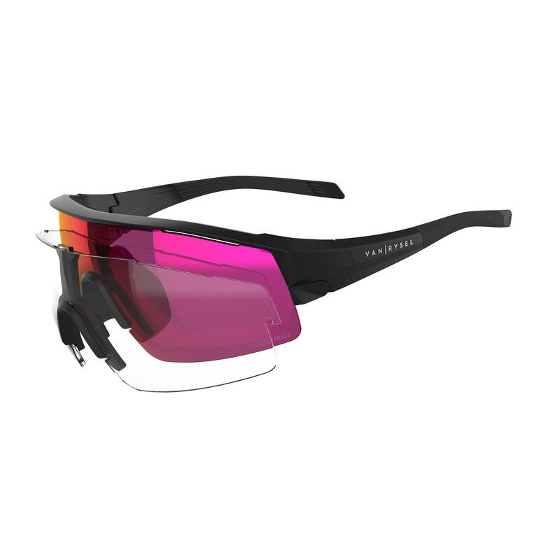 Gafas ciclismo adulto ROADR 900 cat. 3 HIGH DEFINITION negras +cristales cat. 0