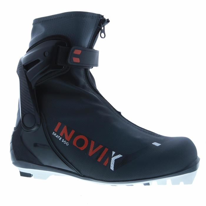 Chaussures de ski de fond skating noir XC S BOOTS 500 ADULTE