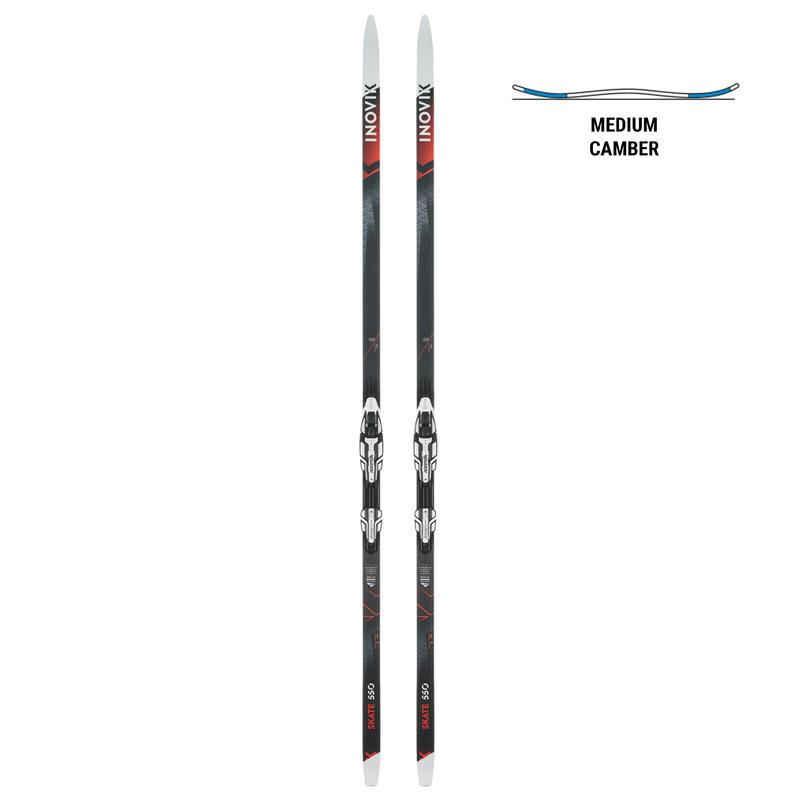 Adult cc skis MEDIUM camber skating 550 + Rottefella Xcelerator binding