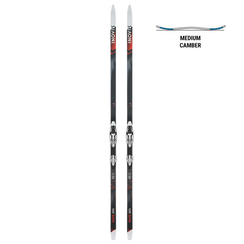 SKATING CROSS COUNTRY SKI Cross-Country Skiing - XCS SKI SKAT 550 MEDIUM CAMBER INOVIK - Cross-Country Skiing