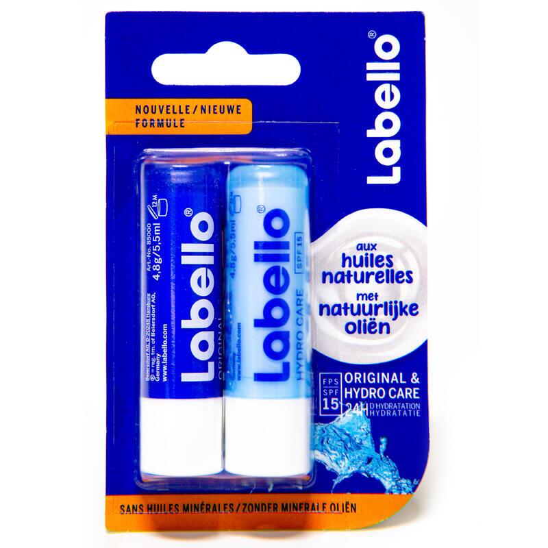 Baumes à lèvres sticks Labello Classic + Hydro Care