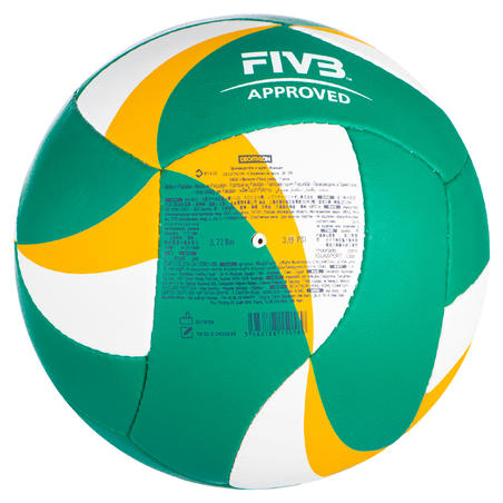 Balón de vóley de playa BV900 FIVB verde y amarillo
