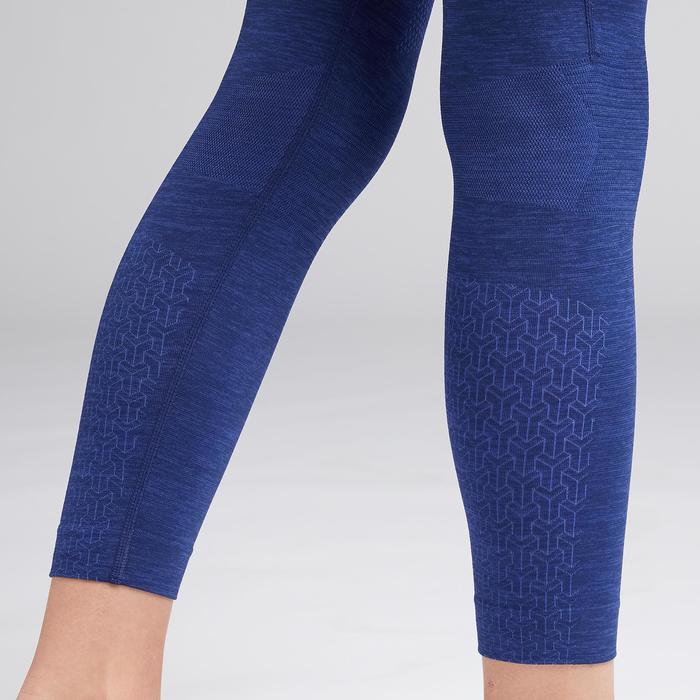 兒童款緊身褲Keepdry 500-刷色藍