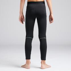 兒童款保暖緊身褲Keepdry 100 Warm-黑色