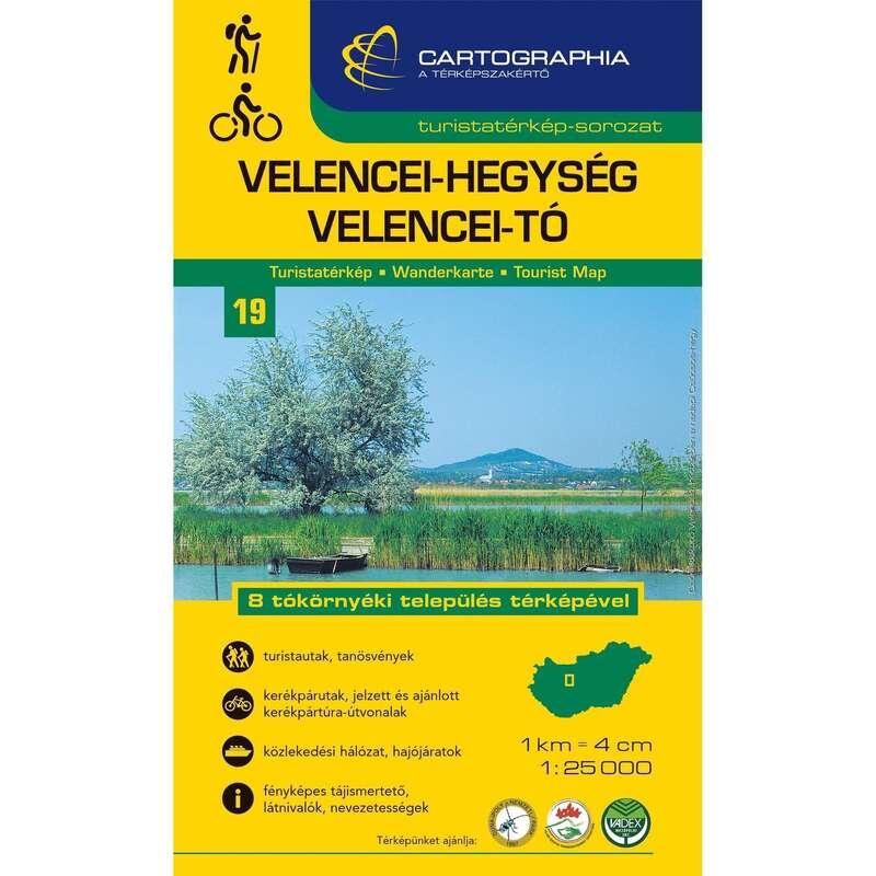 térképek Túrázás - Velencei-tó turistatérkép CARTOGRAPHIA - Túra felszerelés