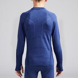 Camiseta Térmica Kipsta Keepdry 500 niños azul jaspeado