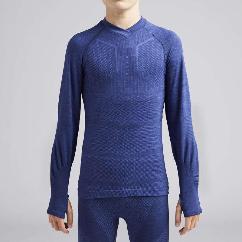 UNDERKLÄDER LAGSPORT JUNIOR Barnkläder - Keepdry 500 Junior blåmelerad KIPSTA - Underkläder