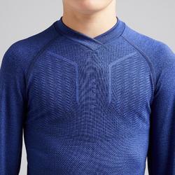 兒童款底層衣Keepdry 500-石灰藍